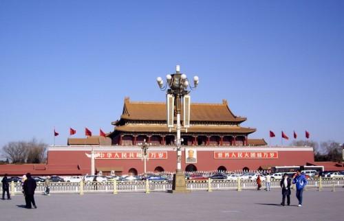 数年前の北京天安門広場の様子