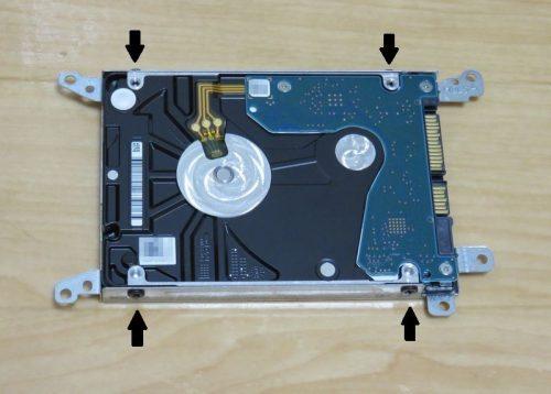 HDD取り付けステーをSSDに付け替える