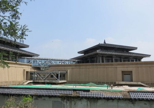 工事中の咸陽博物院